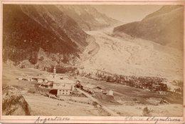 Photo Ancienne Sur Carton - Argentières , Le Glacier ( Dim 16x10 Cm) - Photos