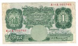 Great Britain, 1 Pound . P-363c  , Dirt. VF. - …-1952 : Before Elizabeth II