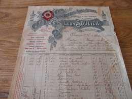 11  - Facture , Distillerie De Sainte-Eutrope , LEON SOULIER , ORANGE, Vaucluse, 1910 - Levensmiddelen