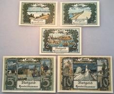 Memel 1922 Ro.846a-850a UNC, Notgeld Handelskammer Memelgebiet (Geldschein Banknote Russia France Deutschland Lithuania - Eerste Wereldoorlog