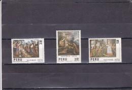 Peru Nº 596 Al 598 - Perú