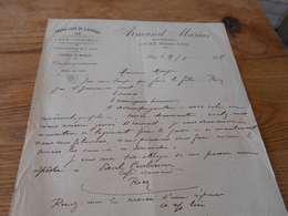 21  - Facture, Grand Café De L'Univers , ARMAND MARIUS , à Riez, 1908 - Ambachten