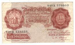 Great Britain, 10 Shill. P-368c  , F. - …-1952 : Before Elizabeth II