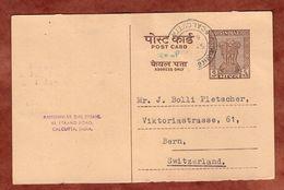 Ganzsache Ashokasaeule Antwortteil?, Calcutta Nach Bern 1964 (76019) - Sin Clasificación