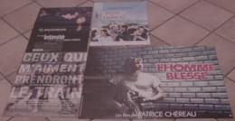 LOT 4 AFFICHES CINEMA FILMS De Patrice CHEREAU HOTEL DE FRANCE INTIMITE L'HOMME BLESSE CEUX QUI M'AIMENT TRAIN - Posters