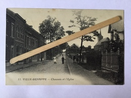 VIEUX-GENAPPEnº11»CHAUSSÉE DE L'EGLISE «Panorama  ,animée 1934 (Baudinière). - Genappe