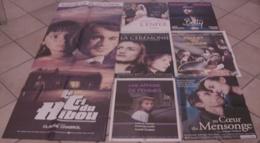 7 AFFICHES CINEMA FILMS CLAUDE CHABROL L'ENFER CEREMONIE BETTY AFFAIRE DE FEMMES POULET AU VINAIGRE CRI HIBOU - Posters