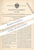 Original Patent - Gas Economising Foreign Patens Limited , London | James Love , Barking , 1893 | Gas Karburieren | Gase - Historische Dokumente