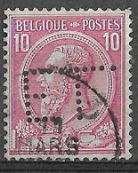 9W-747:N°46: E.L. Perfin  ( Gand)...lichte Plooi .. Zie Scan) - 1884-1891 Leopoldo II