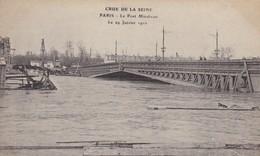 75. PARIS. INONDATIONS DE 1910.  LE PONT MIRABEAU. - La Crecida Del Sena De 1910