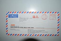 Malaisie 1987 Enveloppe Air Mail Malaisie Vers Belgique - Malaysia (1964-...)