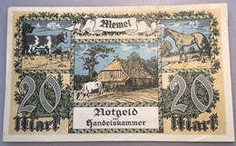 Memel 1922 20 Mark Ro.851a XF-AU Notgeld Handelskammer Memelgebiet(billet Geldschein Russia Banknote France Lithuania - Eerste Wereldoorlog