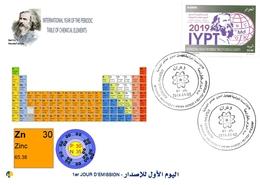 DZ Algeria 1836 2019 Anno Internazionale Tavola Periodica Degli Elementi Chimici Dmitry Mendeleev Chimica Zinco - Chimica