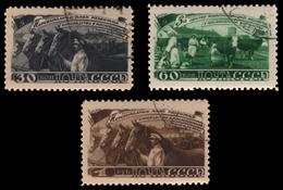 Russia / Sowjetunion 1948 - Mi-Nr. 1256-1258 Gest / Used - Viehzucht - 1923-1991 UdSSR
