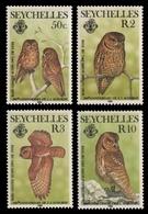 Seychellen 1985 - Mi-Nr. 575-578 ** - MNH - Eulen / Owls - Audubon - Seychelles (1976-...)