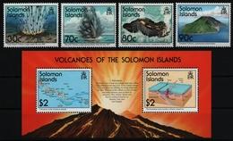 Salomoninseln 1994 - Mi-Nr. 865-868 & Block 39 ** - MNH - Vulkan - Salomoninseln (Salomonen 1978-...)