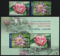 Australien 2002 - Mi-Nr. 2150-2151 & Block 46 ** - MNH - Blumen / Flowers - 2000-09 Elizabeth II