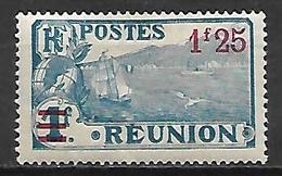 REUNION   -    1924 .   Y&T N° 104 *.  Surchargé - Neufs