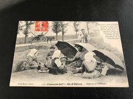 1178 - ILE D'OLERON Dejeuner En Vendanges - 1909 Timbrée - Ile D'Oléron