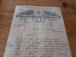 54 - Facture, Grande Distillerie Vinicole, Maurice DEBONNAIRE, Lorgues, Var, 1918 - Levensmiddelen