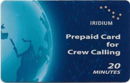 USA - Iridium - Blue Earth - Satellite Scratch Prepaid, 20Min, Used - Otros