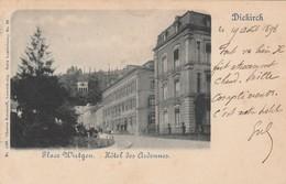 Diekirch , Place Wirtgen , ( Wirtgenplatz , Circulé 19-8-1898 )Edit :  Charles Bernhoeft ,n° 1268 - Diekirch