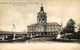 ST. LOUIS, Louisiana Purchase Exposition 1904 DAS DEUTSCHE HAUS - Estados Unidos