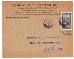 Lettre Tamatave 1926 Madagascar Compagnie De L'Océan Indien Banque Bank - Madagaskar (1889-1960)
