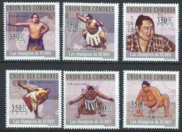Comores YT 1999-2004 XX / MNH Sumo Sport Akebono Hakuho Chiyonofuji Asahoryu - Comoros