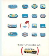 Automobiles - Voitures De Tourisme - Renault Twingo - Carte Publicitaire - Carte Neuve - Voir Scans Recto-Verso - Voitures De Tourisme