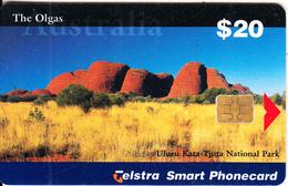 AUSTRALIA(chip) - The Olgas, Uluru Kata-Tjuta National Park, Exp.date 07/01, Used - Landschappen