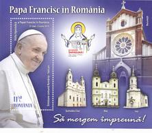 PAPA FRANCISC,2019,MNH,BLOCK ROMANIA. - Blocchi & Foglietti