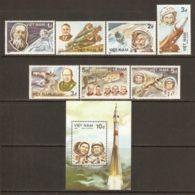 Vietnam 1986 Mi# 1672-1678, Block 45 ** MNH - 1st Manned Space Flight, 25th Anniv. - Vietnam