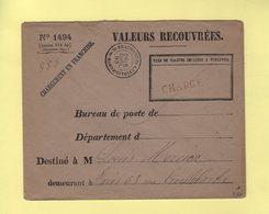 Chargement En Franchise - Valeurs A Recouvrer - Beaumont Du Gatinais - Seine Et Marne - 5 Avril 1893 - 1877-1920: Période Semi Moderne