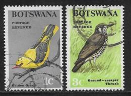 Botswana Scott # 19,21 Used Birds, 1967 - Botswana (1966-...)