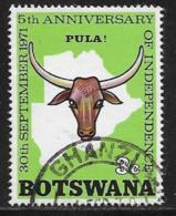 Botswana Scott # 75 Used Ox Head, 1971 - Botswana (1966-...)