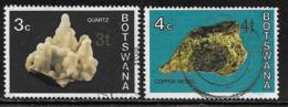 Botswana Scott # 157-8 Used Minerals, Surcharged, 1976 - Botswana (1966-...)