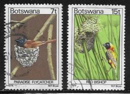 Botswana Scott # 203,205 Used Birds, 1978 - Botswana (1966-...)