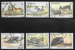 Botswana Scott # 405-10 Used Wildlife Conservation, 1987 - Botswana (1966-...)