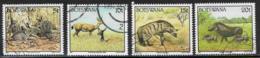 Botswana Scott # 521-2,524-5 Used Wild Animals, 1992 - Botswana (1966-...)