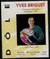 Dôle, Moto Championat D'Europe Supersport 1994 Yves Briguet - Etiquettes