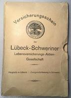 LÜBECK-SCHWERINER LEBENSVERSICHERUNGS-AKTIEN GESELLSCHAFT ~ 1922 Umschlag (vorläufer Der Allianz Versicherung - Bank & Versicherung