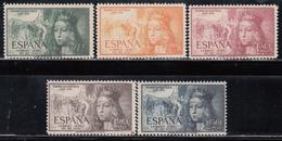 1951    Edifil Nº 1097 / 1101  MNH - 1931-Heute: 2. Rep. - ... Juan Carlos I