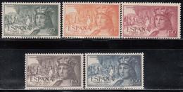 1952    Edifil Nº 1111 / 1115   MNH - 1951-60 Nuevos & Fijasellos