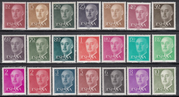 1955-56    Edifil Nº 1143 / 1163   MNH - 1951-60 Nuevos & Fijasellos