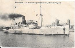 CPA-1910-PAQUEBOT-SIDI BRAHIM-Cie Transports Maritmes-Courrier D Algerie TBE-RARE - Paquebots