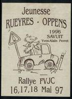 Savuit 1996 , Rallye Mai 1997 De La Jeunesse Rueyres-Oppens, Vaud, Suisse - Voitures