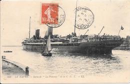 CPA-1910-PAQUEBOT-LA PROVENCE De La C.G.T-Sortant De HAVRE-TBE-RARE - Paquebots