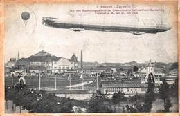 ANKUNFT ZEPPELIN II~INTERNATIONAL LUFTSCHIFFAHRT-AUSSTELLUNG FRANKFURT 1909 PHOTO POSTCARD 40981 - Dirigeables