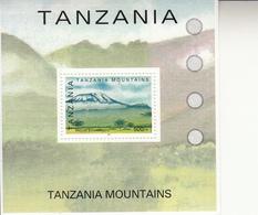2002 Tanzania Mountains Kilimanjaro  Souvenir Sheet Complete - Tanzania (1964-...)
